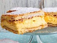 Рецепта Крем пита от бутер тесто с домашен крем ванилия
